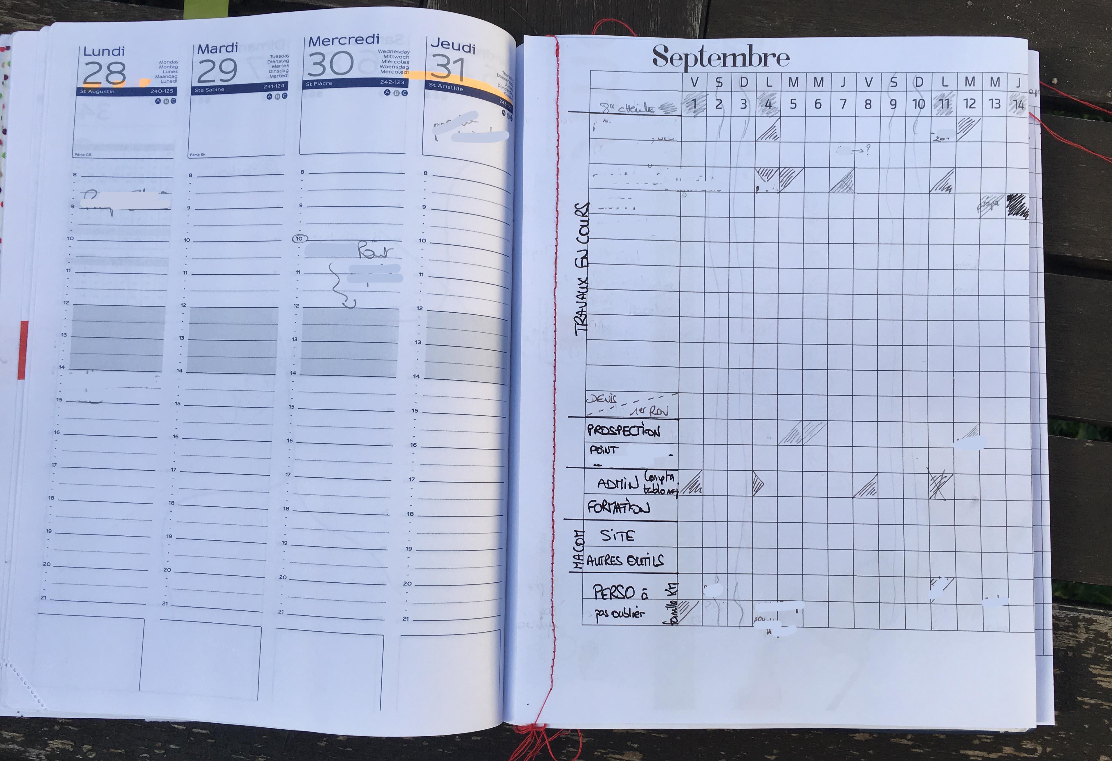 conseil en communication retroplanning planning bullet journal kmscommunication