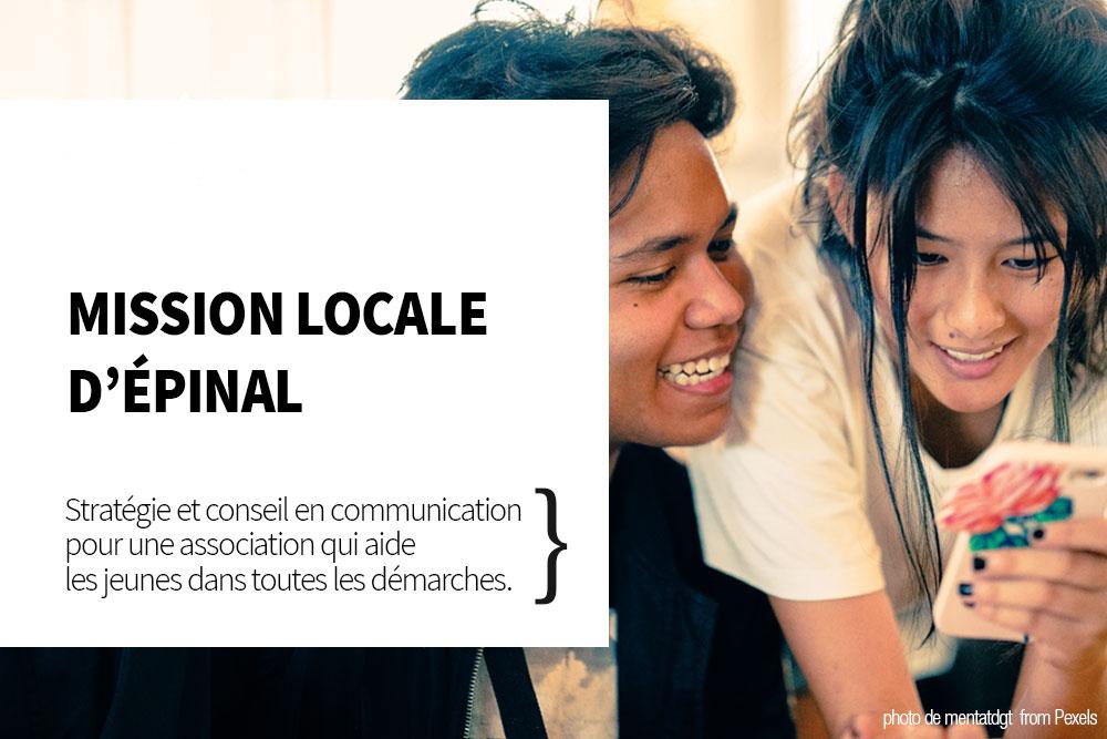 conseil en communication Mission locale Epinal